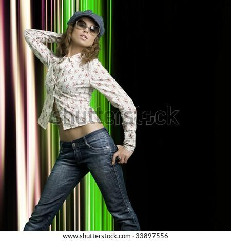 Beautiful woman. Fashion photo - stock photo