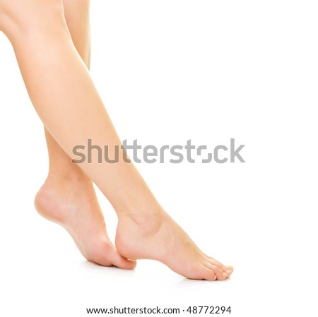Beautiful woman Feet over white