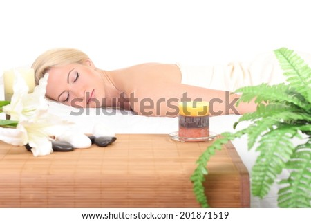 Beautiful Woman Getting Spa  - stock photo