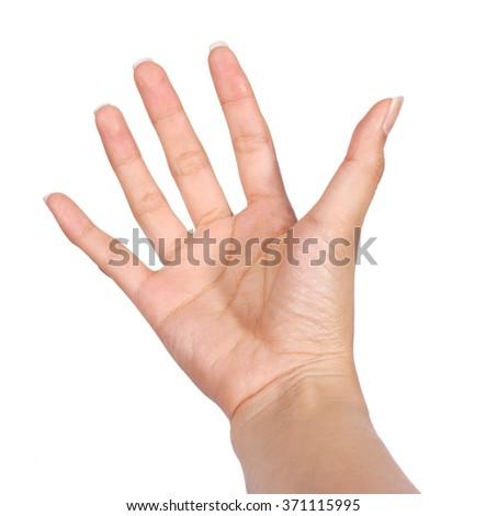 Beautiful woman hand holding - stock photo