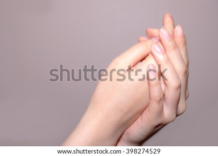 beautiful woman hands - stock photo