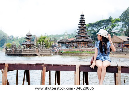 beautiful woman in Bali - stock photo