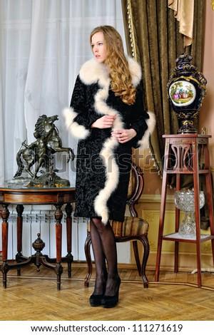 Woman Fur Coat Banque d&39Image Libre de Droit Photos Vecteurs et