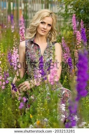 stock photo beautiful woman in spring garden 203213281 - How Do Pretty Russian Women Seriously Act?