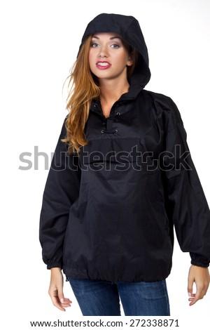 Beautiful Woman isolated on white background - stock photo