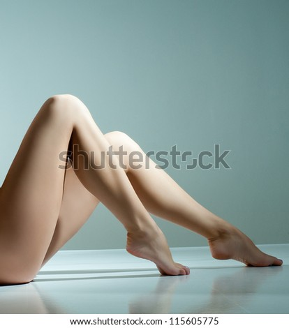 Beautiful woman legs - stock photo
