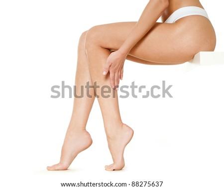 Beautiful woman legs - stock photo