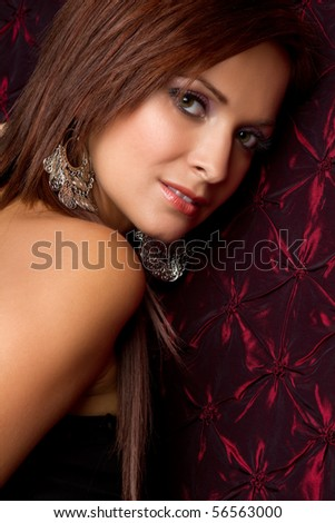 Beautiful woman looking over shoulder
