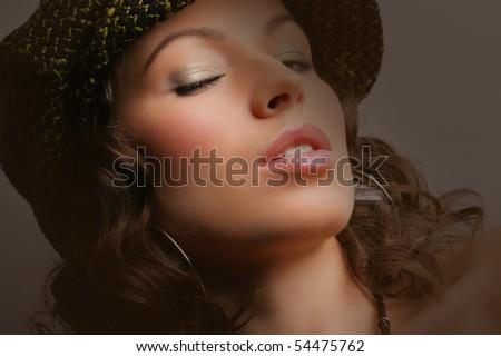Beautiful woman. Makeup & Fashion - stock photo