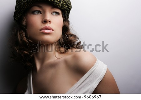 Beautiful woman. Makeup & Fashion - stock photo