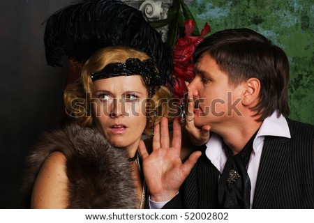 beautiful woman not interested not forgiving ? rejecting man - stock photo
