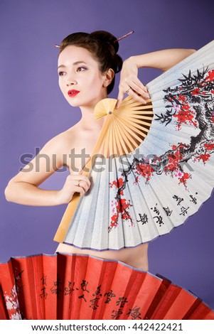 Pictures of naked asian girl with umbrella — photo 8