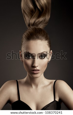 Beautiful Woman Portrait. - stock photo