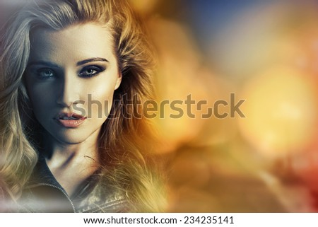 Beautiful woman portrait - stock photo