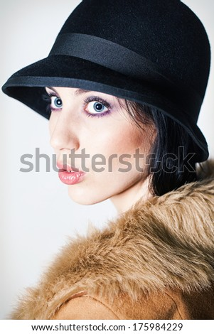 Beautiful woman portrait in studio