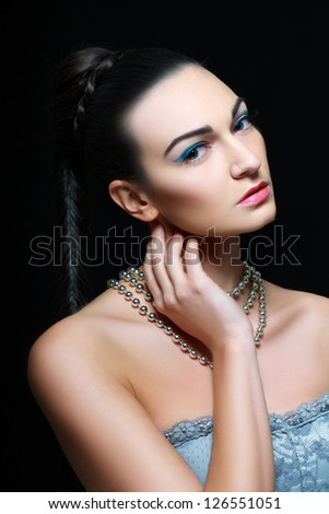 Beautiful Woman Portrait. Sexy Girl .Beauty model. Bridal make up.