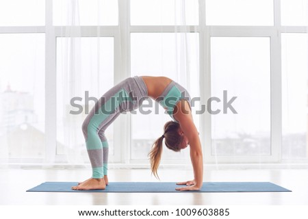 urdhva dhanurasana stock images royaltyfree images