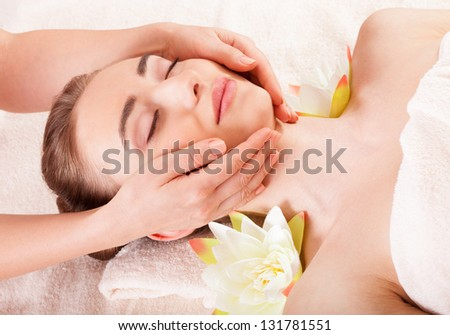 Beautiful woman relax in spa