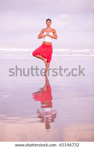 Beautiful woman relaxing by the seaside - stock photo
