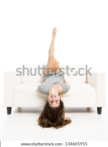 upside down woman stock images royaltyfree images