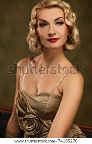 Beautiful woman retro portrait