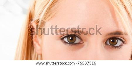Beautiful woman's eyes - stock photo