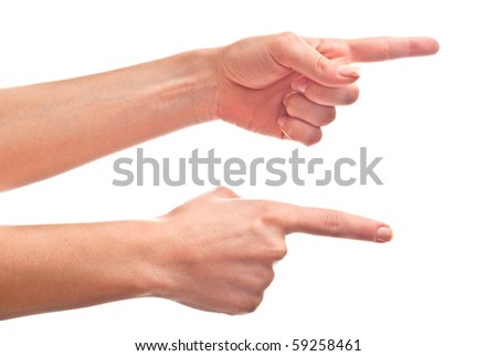 Beautiful woman's hand isolated on white background. Studio shot