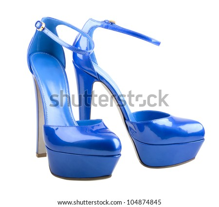 Beautiful woman shoes isolated on the white background - stock photo