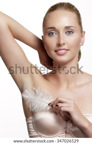Armpit man shaved smooth