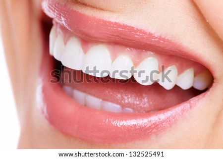 Beautiful woman smile. Dental health care clinic.