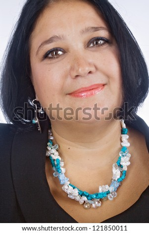 Beautiful woman, studio shot - stock photo
