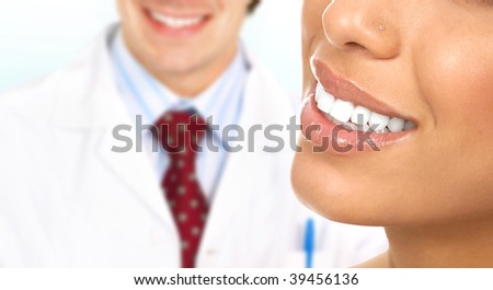 Beautiful  woman teeth. Dentists - stock photo