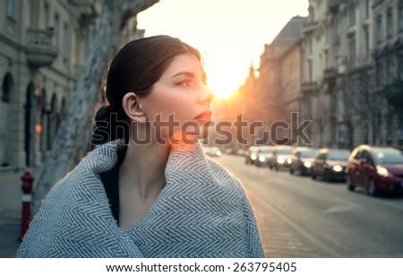 stock photo beautiful woman walking down the street 263795405 - Sax n art jazz club beautiful vietnamese woman