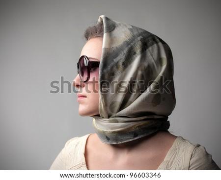 Beautiful woman wearing a fashion - stock photo