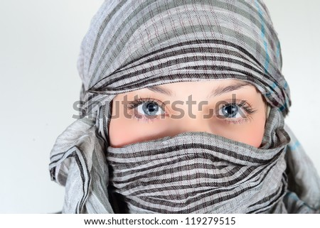 beautiful woman with burqa