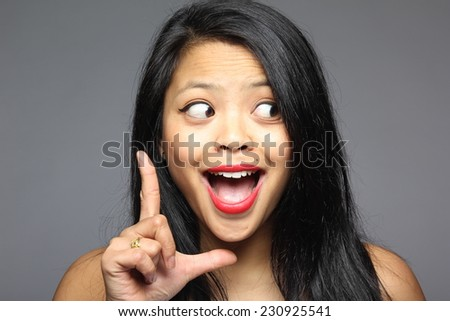 Beautiful woman with happy energy