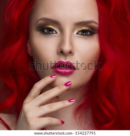 Beautiful Woman with Healthy Red Hair