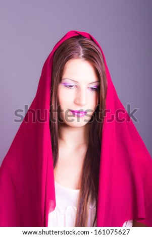 beautiful woman with veil