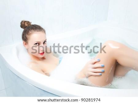 beautiful women in bathroom. Beautiful Woman Bathroom Stock Photo 332119808   Shutterstock