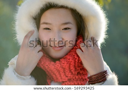 beautiful women in winter