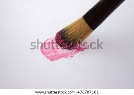 beautiful women's fashion lifestyle cosmetics makeup powder brush and shadow
