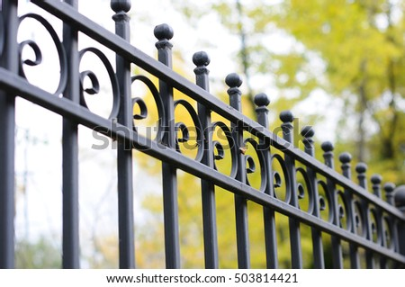beautiful wrought fence image of a decorative cast iron fence metal fence close up