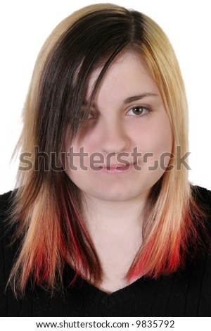 Beautiful 16 Year Old Girl With Uber Mod Hair Style