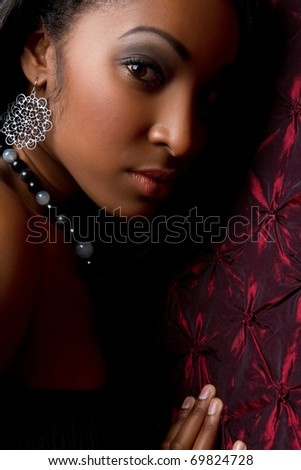 Beautiful young african american woman - stock photo