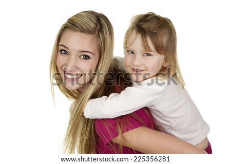 Beautiful Young Blonde Babysitter Giving Cute Stock Photo (Royalty ...