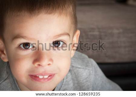 Beautiful young boy portrait - stock photo