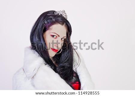 Beautiful young brunette - stock photo