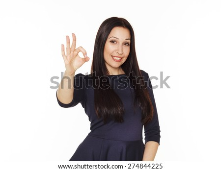 Beautiful young brunette business woman  - stock photo