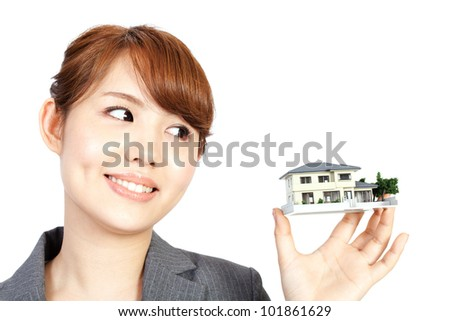 Beautiful young business woman. Portrait of asian