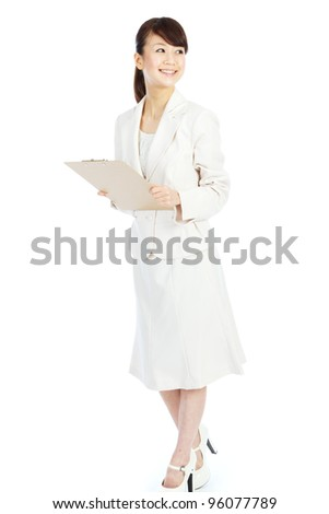 Beautiful young business woman. Portrait of asian woman. - stock photo